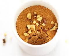 paleo pumpkin mug cake made with coconut flour leelalicious