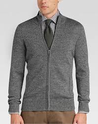 blazer sweater joseph abboud grey zip sweater s sweaters s wearhouse