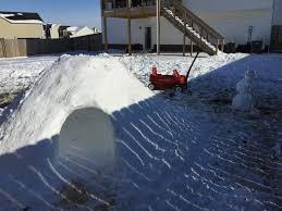 how building an igloo in my backyard was the best snow day ever