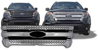 2013 ford explorer upgrades ford explorer chrome grille overlay 2011 2012 2013 2014 2015