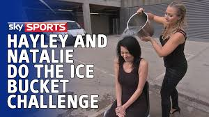 Sky Sports Live Desk Natalie Sawyer And Hayley Mcqueen Do The Ice Bucket Challenge