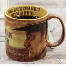Coffe Mug by John Wayne Courage Is Saddling Up Anyway Mug Large Coffee Mugs