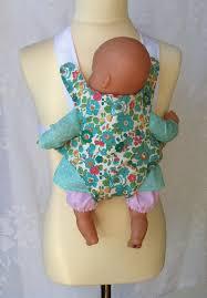siege auto pour poupon porte bébé pour poupée en liberty http papaetmaman fr