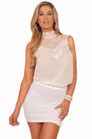 high collar v neck lace sleeveless chiffon dressy keyhole