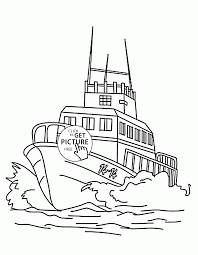 large speed boat coloring page for kids transportation coloring