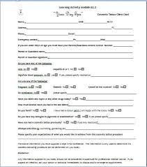 Salon Client Information Sheet Template Cosmetic Salon Forms