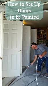 how to set up doors to be painted she buys he builds
