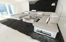 ecksofa xxl ottomane xxl sofa u form design sectional sofa matera xxl with led lights