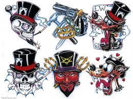 color ink cartoon tattoos designs