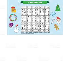 word search puzzle for children educational game christmas winter