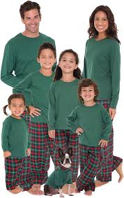 sleepytimepjs family matching plaid thermal