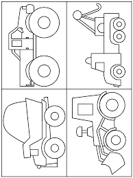 print coloring page and book trucks transportation coloring pages