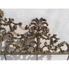 baroque style metal king headboard chairish
