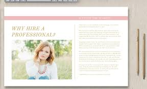senior photography magazine template senior welcome packet