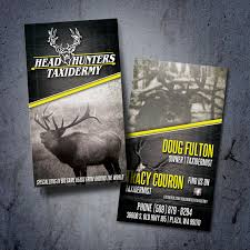 head hunters taxidermy business card design and trade show design