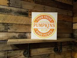 farm fresh pumpkins fall decor fall sign wood sign home