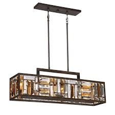 kitchen island light fixtures shop quoizel crossing 8 25 in w 4 light bronze kitchen island