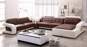 White Leather Sofa Living Room Ideas by Living Room Brown And White Leather Sectional Sofa Grey Rug