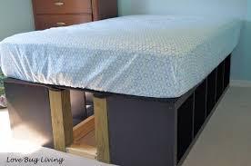 ikea kitchen cabinet storage bed help how do i make a storage bed frame from ikea kitchen