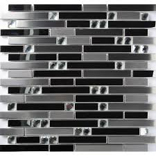 stainless steel mosaic tile backsplash stainless steel mosaic tile silver mirrored tiles porcelain base
