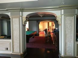 new york basement game room ideas traditional with baseboard