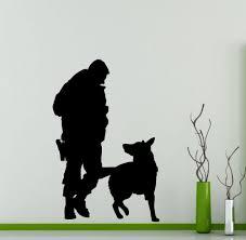 dog home decor aliexpress com buy police officer dog wall sticker home decor