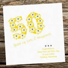 handmade card wedding anniversary 50th golden personalised