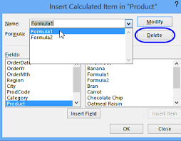 How To Remove Pivot Table Excel Pivot Table Calculated Item