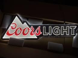 coors light bar sign coors light beer equity led light bar sign man cave pub 40 x 13 5