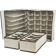 sorbus set of 4 foldable drawer dividers storage boxes closet