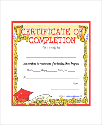 certificate of completion free template word sunday certificate template 5 free word excel pdf