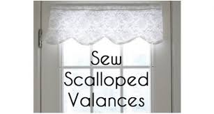 Curtain Patterns To Sew Tutorial How To Make A Scalloped Valance U2013 Sewing