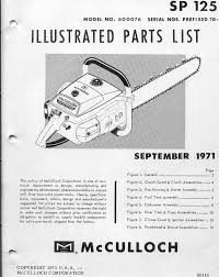 mcculloch sp 125 600076 chainsaw parts list