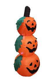halloween inflateables amazon com 4 foot halloween inflatable 3 jack o lanterns yard art
