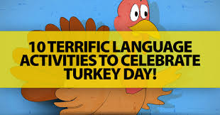 terrific language activities to celebrate turkey day