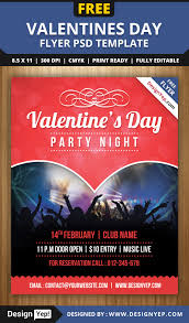 free valentines party flyer psd template free flyers pinterest