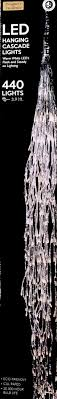 warm white hanging cascade led lights paul michael company
