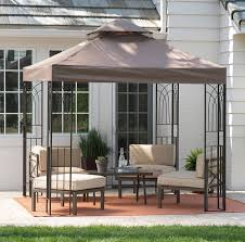 Patio Gazebos by Metal Garden Gazebo Complete With Patio Dining Table And Chairs