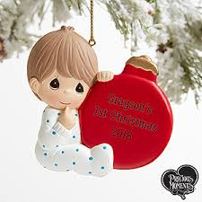 precious moments personalized baby boy ornament gifts