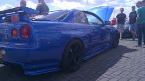 nissan skyline 2015 blue nissan skyline r34 gtr v spec ii a sight to behold outside