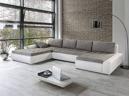 sofa grau weiãÿ wohnlandschaft grau weiß enorm schlafsofa 45293 haus ideen