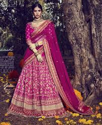 rani pink colour buy apparels rani colour bhagalpuri designer wedding wear lehenga