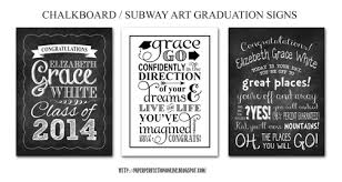 graduation signs paper perfection chalkboard subway graduation signs