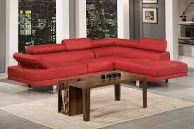 modern contemporary red blended linen fabric sectional sofa