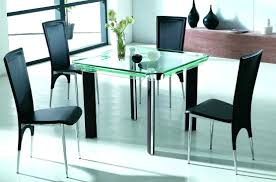 black metal dining table glass top glass dining table metal legs