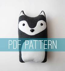 Do It Yourself Crafts by Diy Wolf Pattern Woodland Pillow Plush Fleece Fabric Animal