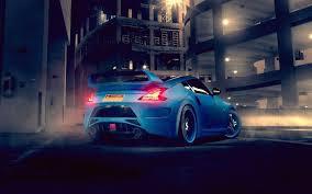 blue nissan 370z blue nissan 370z rear back view car wallpaper download 2880x1800