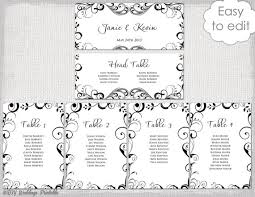how to make table seating cards wedding seating chart template black and white
