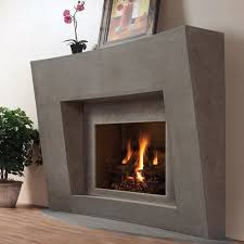 modern omega fireplace mantel of stone in montreal traditional