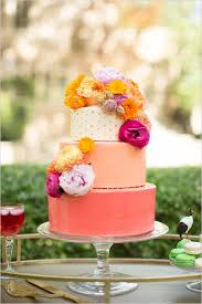 Tropical Themed Wedding Cakes - 26 oh so pretty ombre wedding cake ideas